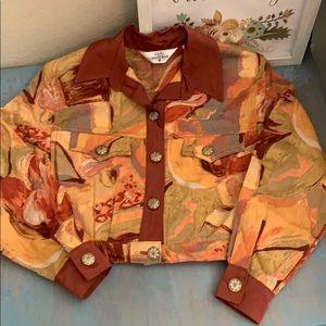 Vintage 80s cropped jacket by Lorraine Wardy